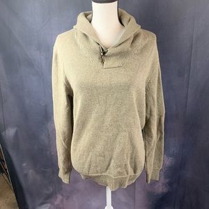 NWOT J Crew Pullover with Toggle Close Cowl Neck M
